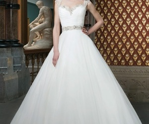 dress, tagsforlikes, and weddingdress image