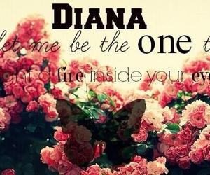 diana, one direction, and song image