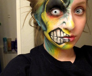 make up, Halloween, and makeup image