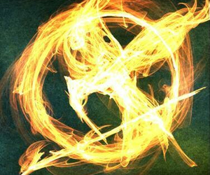 the hunger games, mockingjay, and fire image