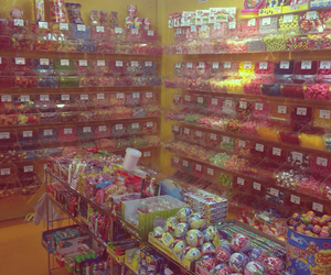 candy, candy shop, and city image