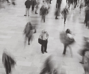 people, black and white, and photography image