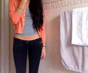 fashion, skinny, and jeans image