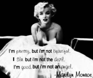 Marilyn Monroe, pretty, and quote image