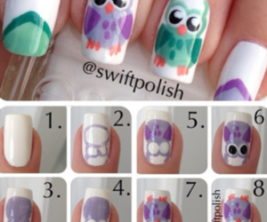 nails, owl, and animal image