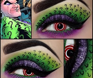 eyes, make up, and riddler image