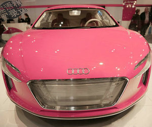 pink, car, and audi image