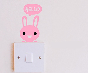 cute, pink, and hello image