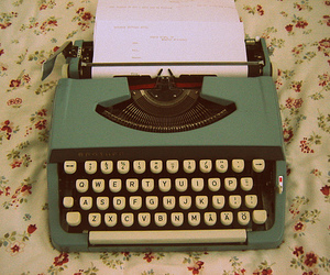 lovely, typewriter, and vintage image
