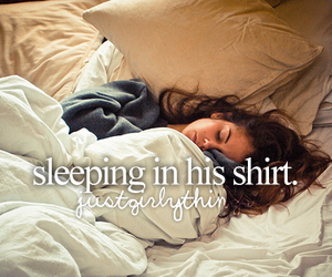 love, shirt, and sleep image
