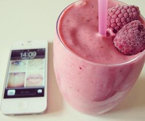iphone, pink, and drink image