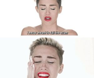 miley cyrus, exam, and funny image