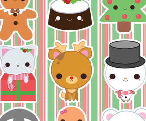 christmas, gingerbread man, and reindeer image