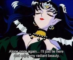 anime, sailor moon, and alone image