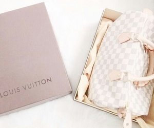 gold, leather, and LV image