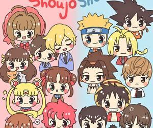 shoujo, anime, and shounen image