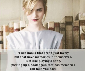 books, emma watson, and quote image