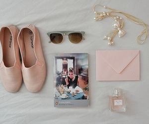pink, shoes, and audrey hepburn image