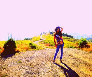 girl, hike, and hills image