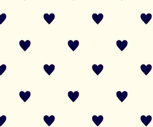hearts, wallpaper, and white and black image