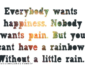 quote, happiness, and rainbow image