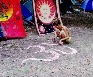 art, hippie, and om image