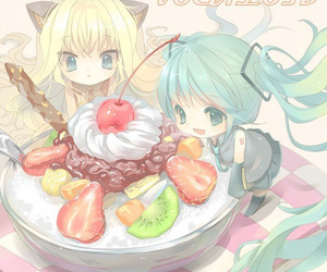 vocaloid, miku, and chibi image
