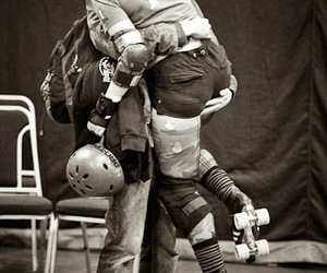 couple, roller derby, and love image