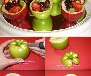 apple, diy, and fruit image