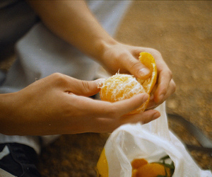 boy, hands, and fruit image