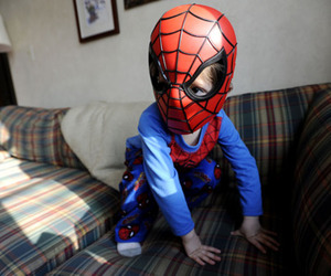 spiderman, cute, and kids image