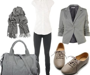 outfit, style, and grey image