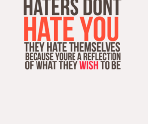 hate, haters, and quote image
