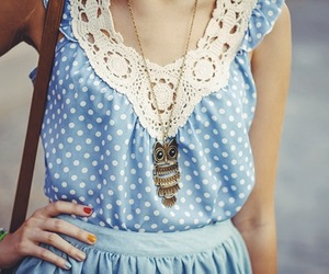 dress, outfit, and owl image