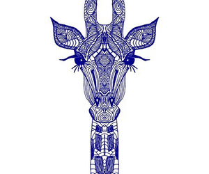 giraffe, blue, and art image