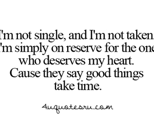 quote, love, and single image