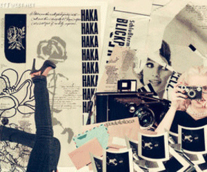 vintage, Collage, and camera image