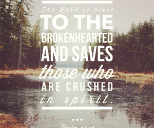 brokenhearted, saves, and bible verse image