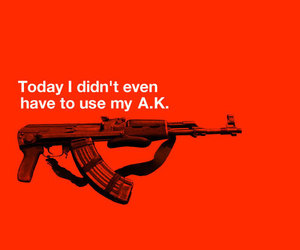 bad ass, gun, and quote image