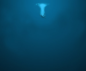 alone, ocean, and woman image