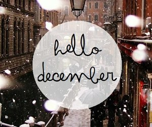 december, hello, and welcome image