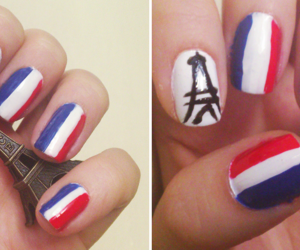eiffel, france, and nails image