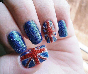nails, blue, and england image