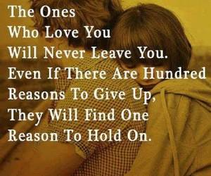 love, quotes, and hold on image