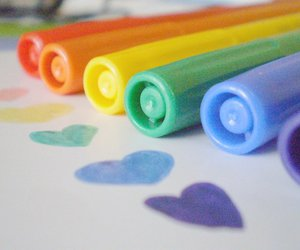 colorful, pens, and colors image