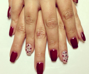 beauty, nail, and red image