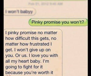 love, text, and promise image