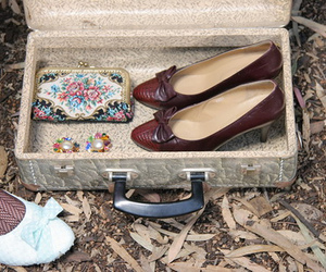 suitcase and shoes image