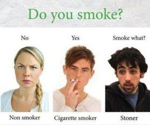 funny, smoke, and cigarette image