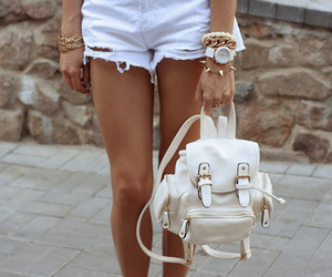 backpack, bracelet, and watch image